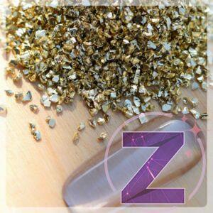 Körömdekoráció fém arany forgács