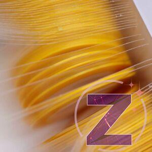 körömdíszítő szalag 1mm sárga
