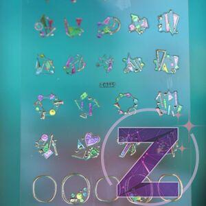körömmatrica 3D változatos formákkal