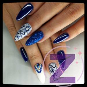 Zodiac - strasszkő ss3 Sapphire