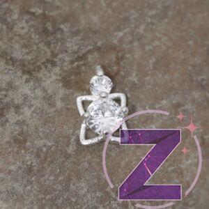 cirkóniaköves körömékszer ezüst forma