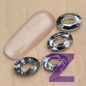 zodiac üveg forma ovális nagy dísz black diamond színben
