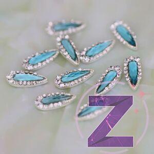 zodiac körömékszer strasszkövekkel díszített aquamarine cseppforma