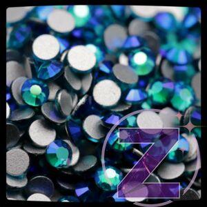 Zodiac - strasszkő ss3 Zircon Blue AB