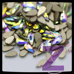 zodiac üveg cseppforma crystal ab színben