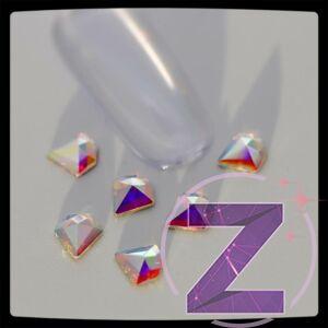 zodiac üveg forma körömdísz gyémánt alakban színjátszó réteggel