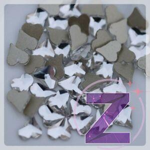 zodiac üveg forma körömdísz szív alakban crystal színben