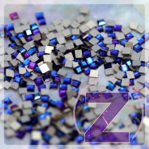 strassz formakő mini négyzet meridian blue