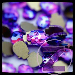 strassz formakő koponya purple ab színben