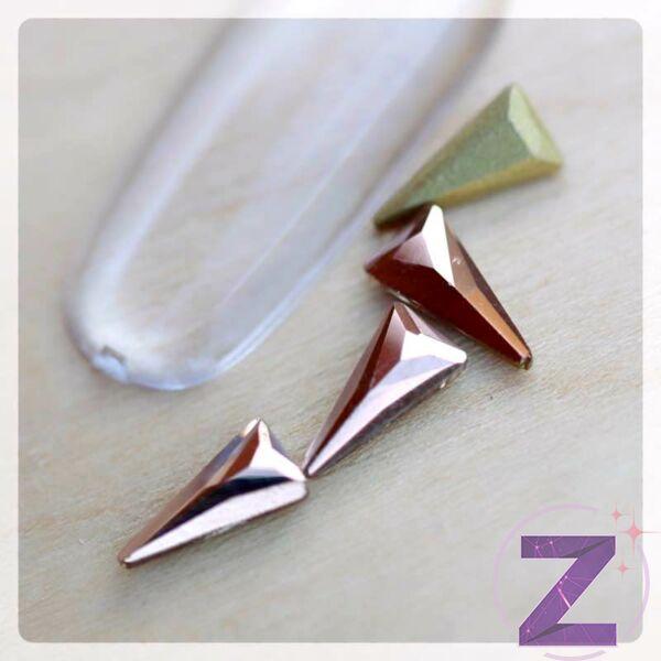 zodiac üveg forma rose gold háromszög