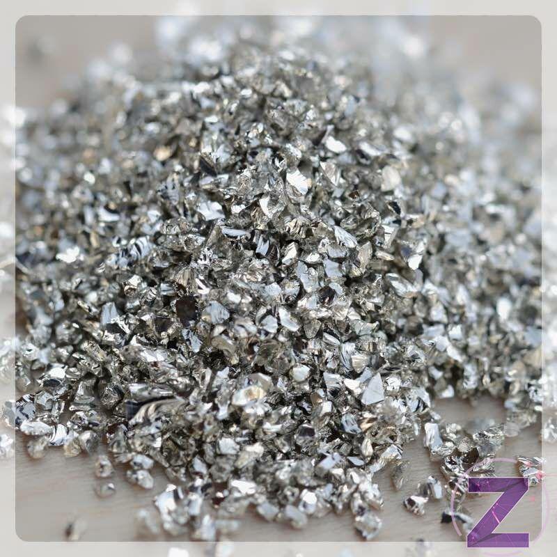 Körömdekoráció fém ezüst forgács