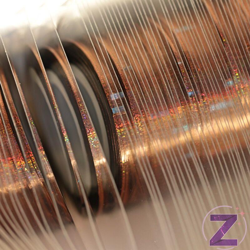 körömdíszítő szalag 1mm copper ab