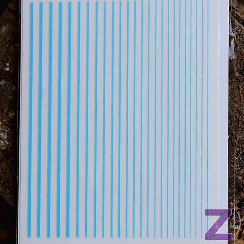 körömmatrica ragasztható neon kék csíkok