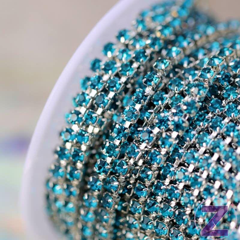 vékony lánc dekoráció aquamarine színben