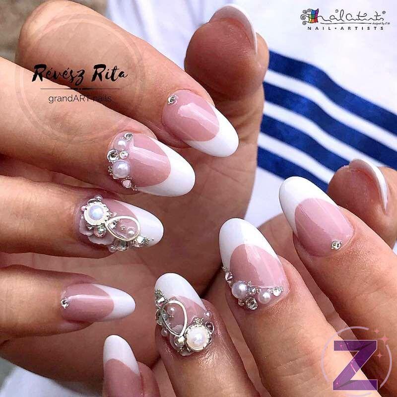 Rita Révész Nails Körömdekoráció ezüst színű kerek fém