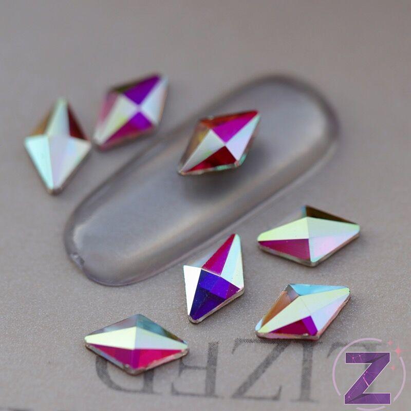 strassz formakő rombusz crystal ab színben