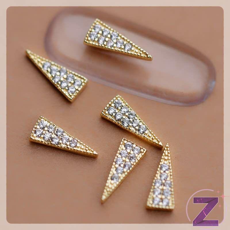 zodiac körömékszer arany háromszög cirkónia kövekkel