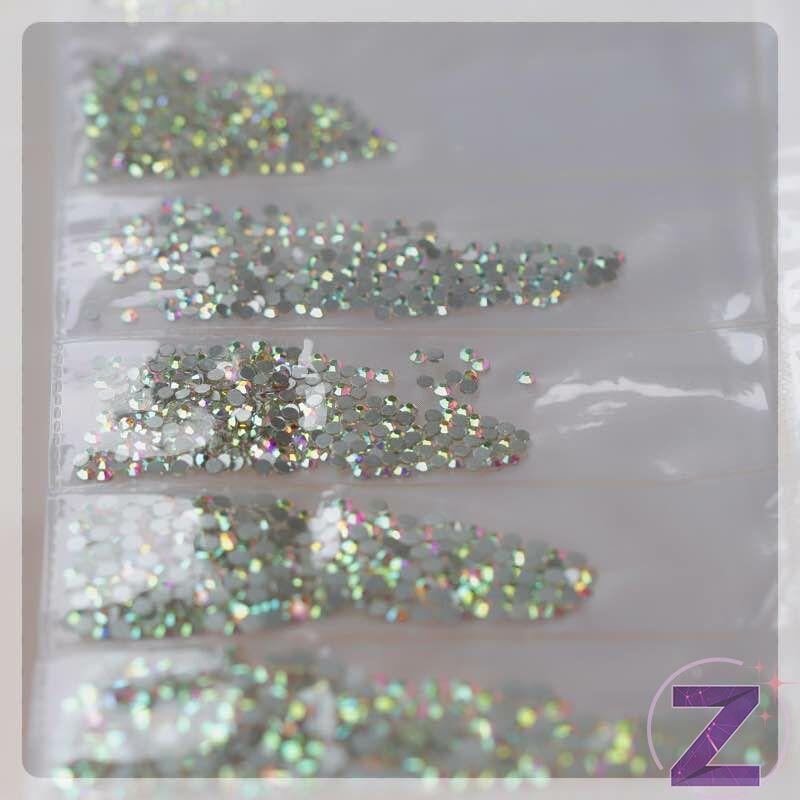 zodiac selection egy csomagban több méretű crystal ab strasszkő