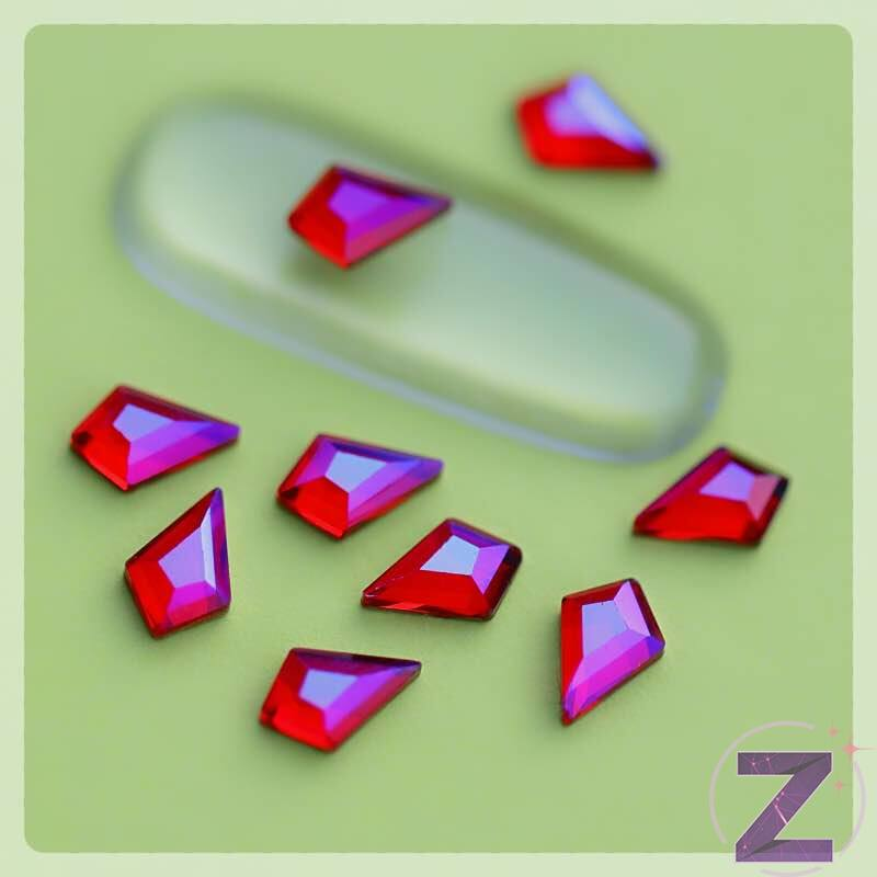 zdiac üveg forma siam ab színben deltoid alakzatban