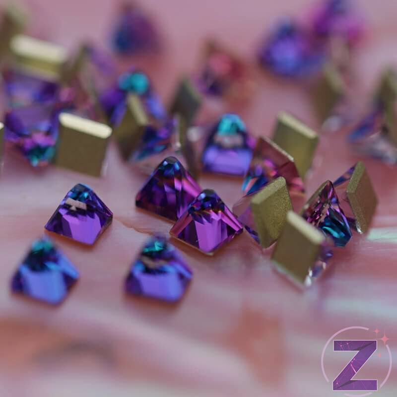 zodiac üveg forma meridian blue színű piramis