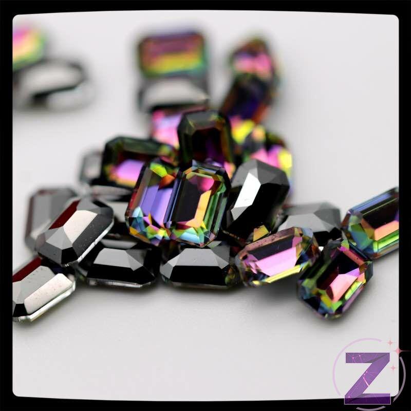 zodiac üveg hasáb forma rainbow színben