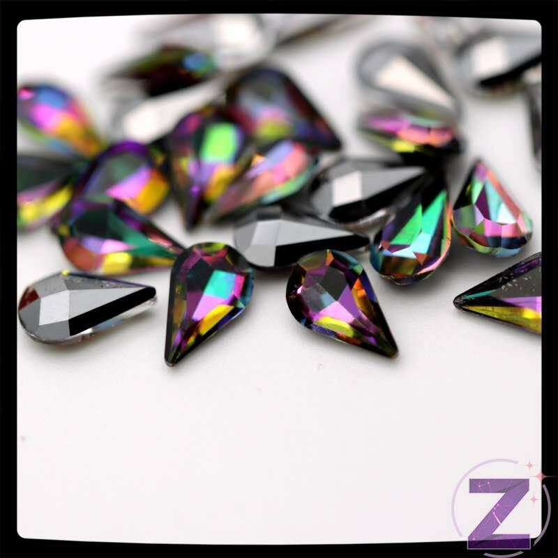 zodiac üveg cseppforma rainbow színben