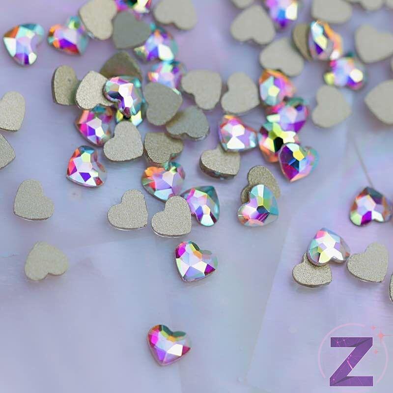 zodiac üveg forma körömdísz szív alakban színjátszó színben