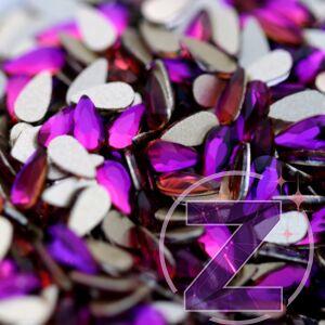 csepp alakú formakő purple flame színben