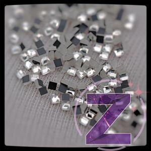 strassz formakő 1.5mm-es négyzet crystal színben