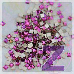 strassz formakő mini négyzet fuchsia színben