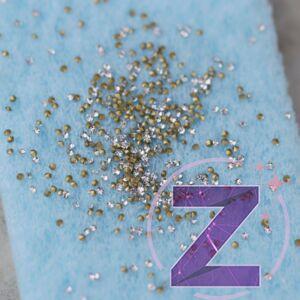 körömdekoráció 1mm rivoli crystal