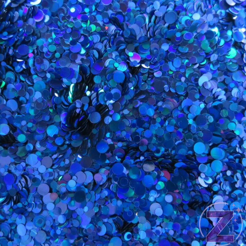 körömdíszítő flitter kék színjátszó színben
