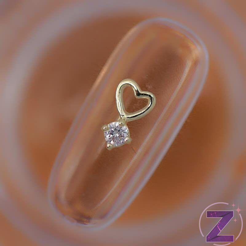cirkóniaköves körömékszer szív forma
