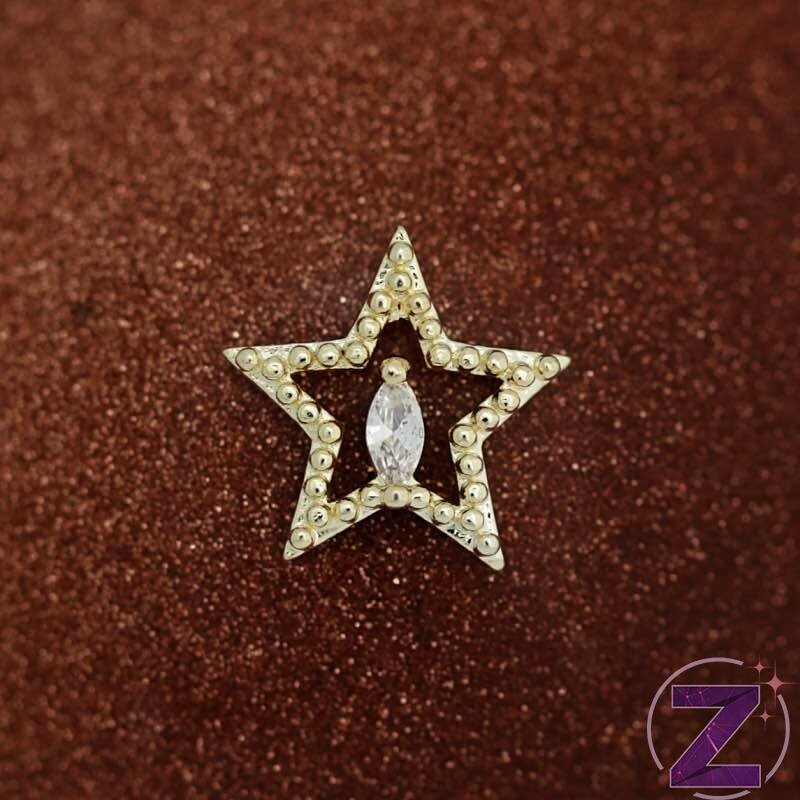 cirkóniaköves körömékszer csillag