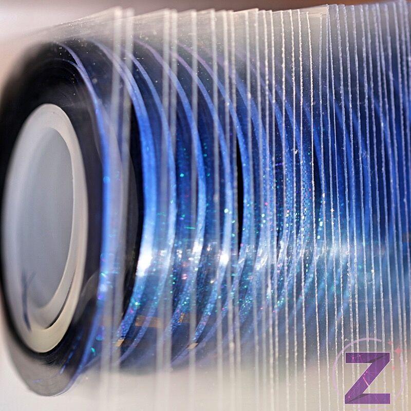 körömdíszítő szalag 1mm sapphire ab