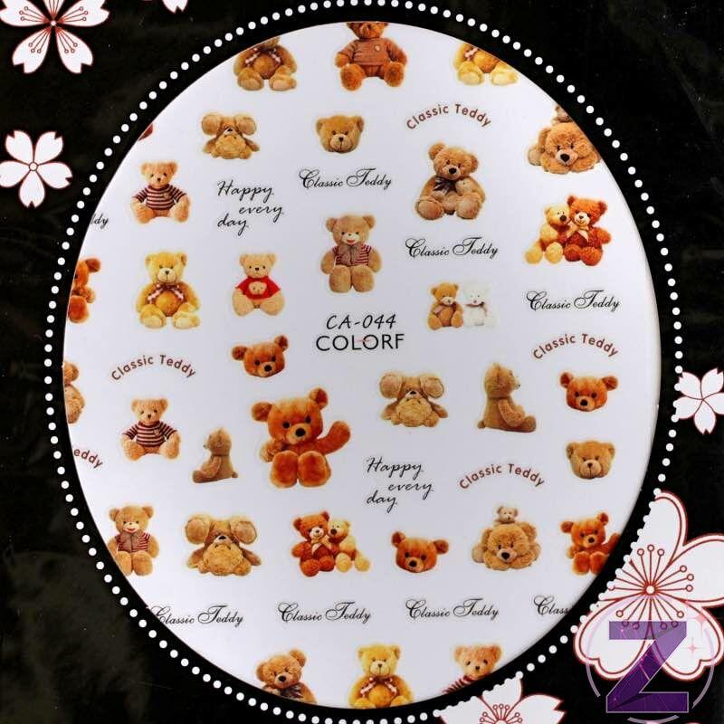 körömmatrica teddy bear 3D