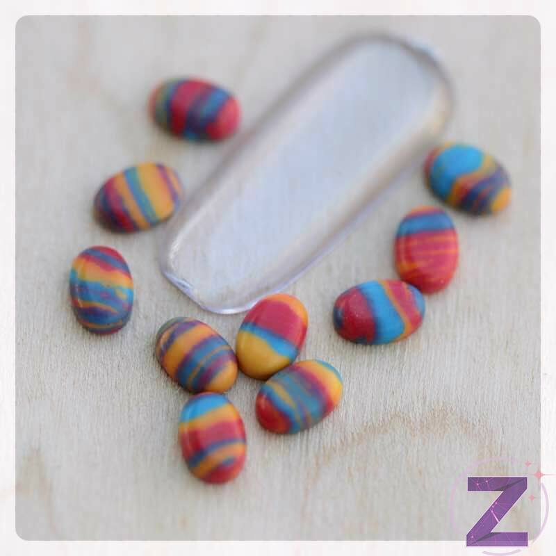 zodiac színezett candy körömdísz